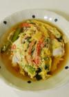 小松菜とカニカマの玉子とじ