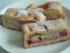 苺ジャムのマーブルケーキ