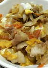 豚バラと根菜の卵とじ