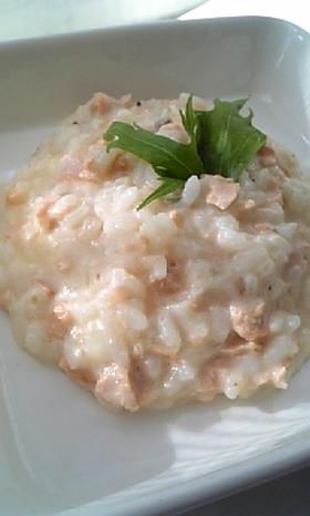 冷ご飯と鮭で簡単クリームリゾット