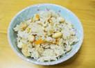 新生姜とお豆の炊き込みご飯