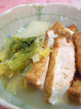 シンプルに☆厚揚げと白菜の炊いたん☆
