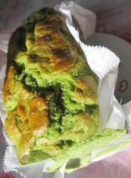 卵牛乳ナシ☆バナナと小松菜のべジケーキ