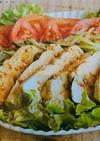 鶏むね肉レンジで中華風サラダ