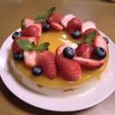フルーツいっぱい優しいゼリーのケーキ
