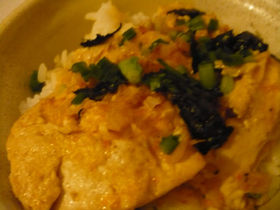 豆腐と桜えびのヘルシー卵丼風