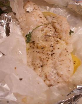 白身魚のパピヨット(ホイル焼き)