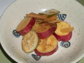 秋☆さつま芋のはちみつレモン煮