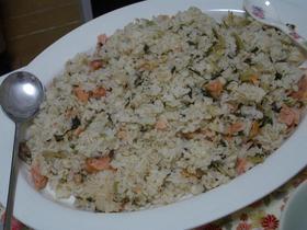 ★秋鮭と高菜の混ぜ混ぜ寿司☆