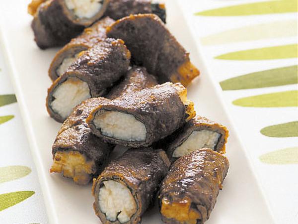 牛肉の野菜巻きソテー