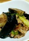 冷凍ナスと豚肉の味噌炒め(薄味)