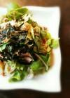野菜モリモリ。ピリ辛韓国風サラダ。