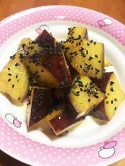 揚げないレンジで作る大学芋(^^)の写真