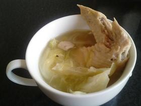 とろとろキャベツと手羽先のスープ