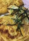 納豆とチゲ味春雨のオムレツ
