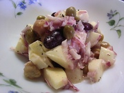 お豆とりんごの簡単サラダ♪の写真