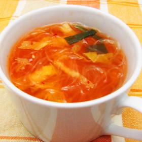 キムチ春雨スープ