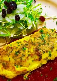 トマトソースde白身魚のピカタ♪簡単