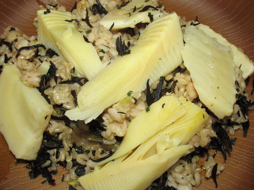 竹の子ご飯(玄米の炊き方)