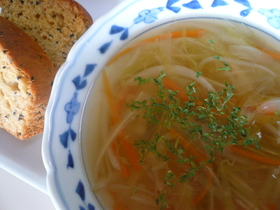 千切り野菜たっぷりスープ☆