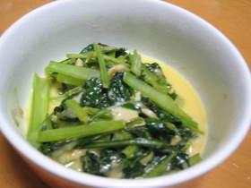 ★簡単★小松菜のガーリックバターチーズ