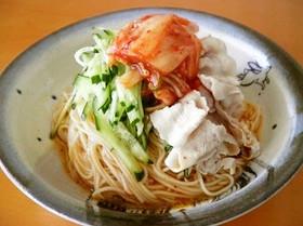 【ホシサンキムチ鍋】ビビン麺風 和え麺♪