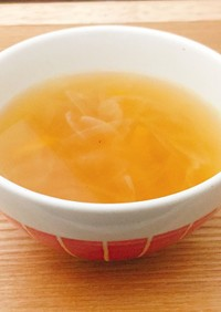 玉葱と人参のコンソメスープ