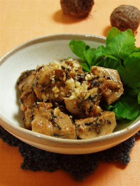里芋と胡桃のきな粉味噌和え