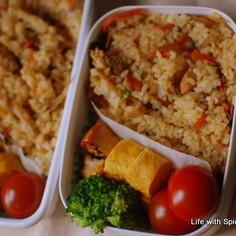 鶏ごぼうご飯(混ぜ込みご飯)