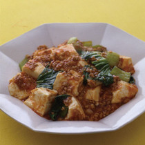 豆腐とひき肉のチリソース煮