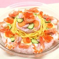 お祝いに✿寿司ケーキ