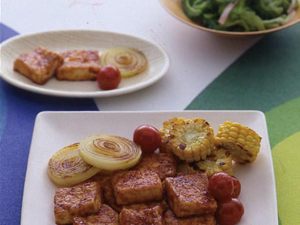 豆腐のバーベキューソテー