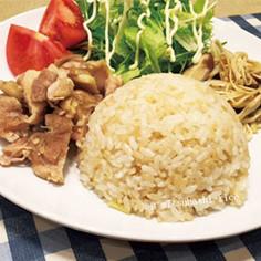 【炊飯器レシピ】シンガポールチキンライス