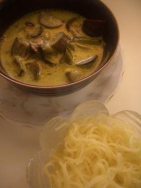 はまって!!グリーンカレーつけ麺!!♪