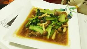 めんつゆで簡単♪小松菜としめじの炒め煮