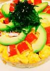 こどもの日☆母の日♡アボカドのケーキ寿司