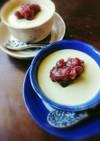 グリーンティーで。抹茶パンナコッタ。