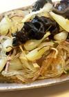 島らっきょうと黒キクラゲの炒め物
