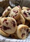 ほんのりバニラ☆クランベリークッキー