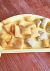 離乳食☆生協バランスキューブで蒸しパン☆
