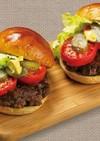 贅沢に味わう!福島牛丸ごとハンバーガー