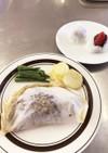 白身魚の紙包み焼き・いちご大福