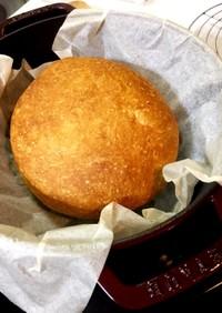 Staubで捏ねないパン
