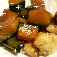かぼちゃと鶏もも肉の煮物