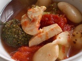 寒い日に☆白花豆のトマトミネストローネ