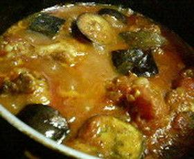鶏と茄子のトマト煮込み※カレー風