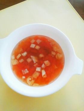 トマトのお味噌汁 離乳食後期~