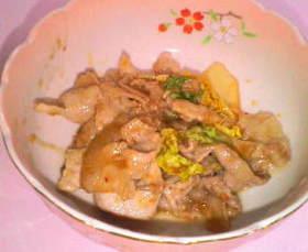 豚肉のキムチ味噌ソース
