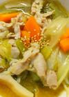 簡単☆豚肉と小松菜と長ネギの中華スープ♪