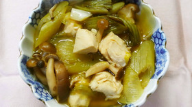 鶏ささみとチンゲン菜長ネギの和風甘酢煮☆
